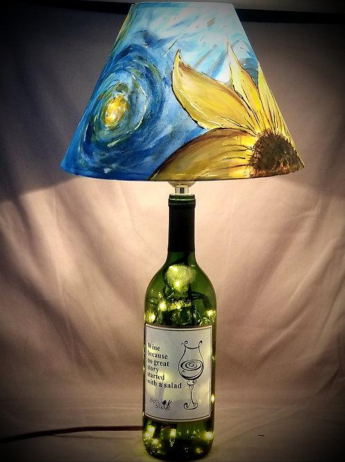 Wine Bottle Lamp - Starry Nights