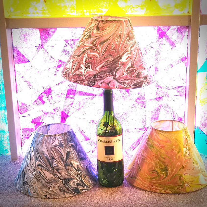 Marbled Wine Bottle Lamps