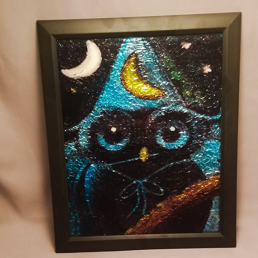 NEW - Ominous Owl - Alcohol Ink