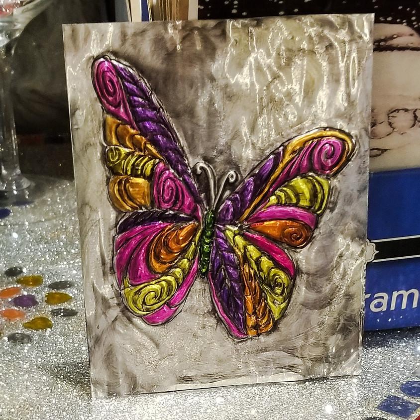 Butterfly - Embossed Metal
