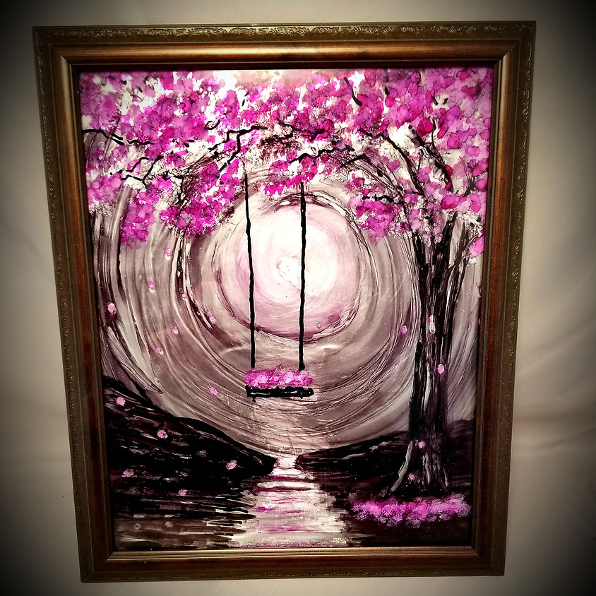 Spring Swing - Alcohol Ink