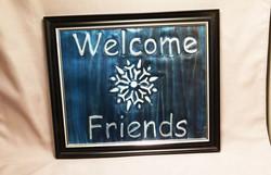welcome friends metal art photo