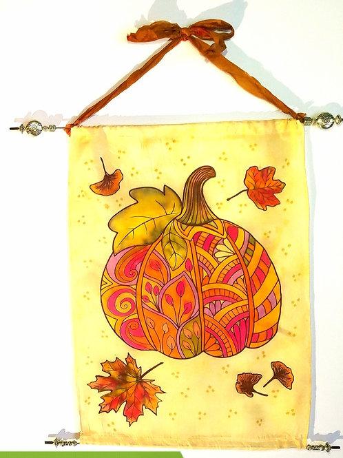 Silk Wall Hanging - Pumpkin