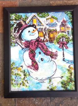 Snowman Scene AI