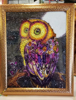 Owl - Alcohol Ink