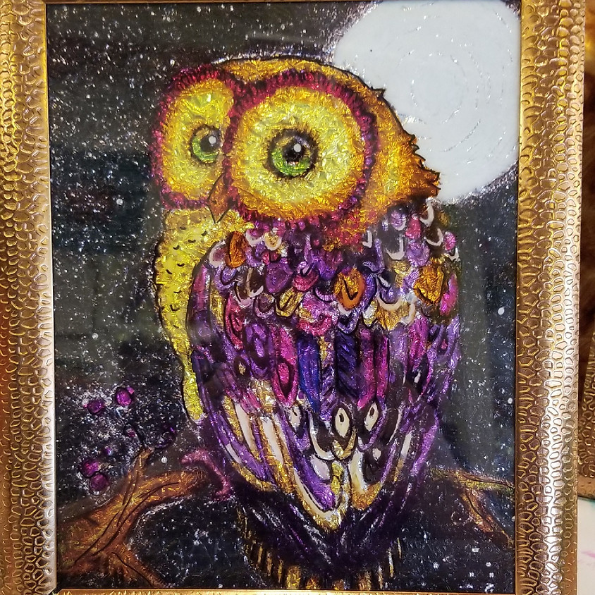 Owl Alcohol Ink - SOLD OUT