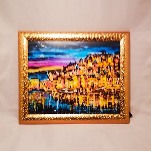 Alcohol Ink - Waterfront Village