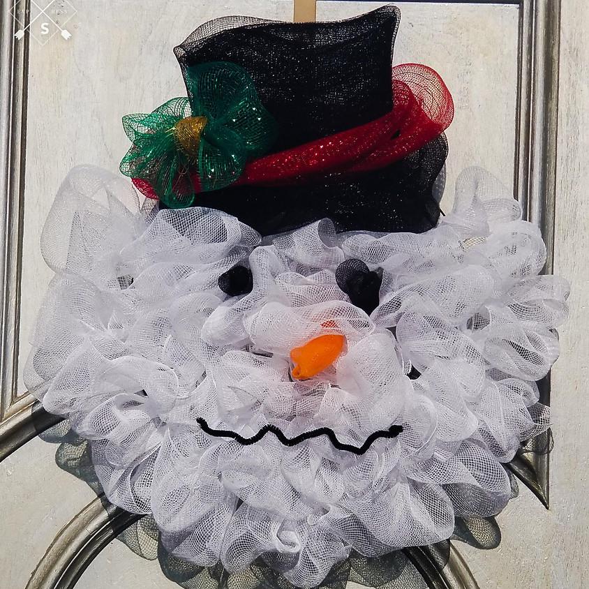 NEW - Snowman Wreath