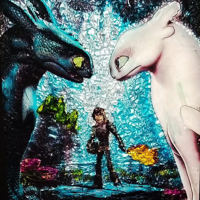 *Kids/Parents* How To Train Your Dragon - Alcohol Ink