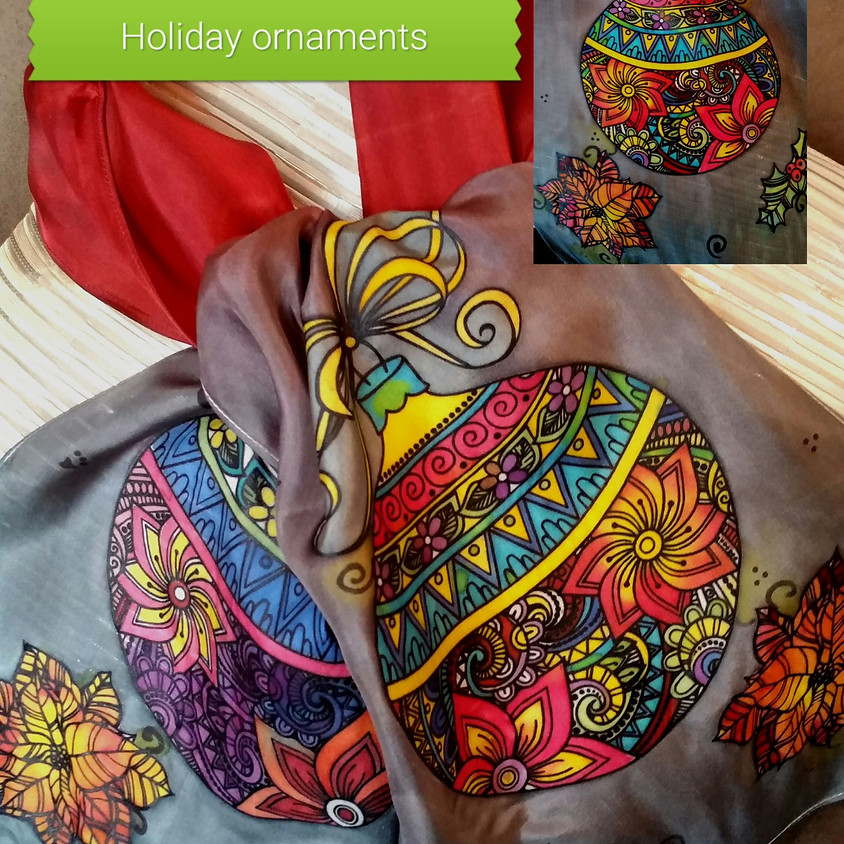 Ornament Silk Scarf *SOLD OUT*