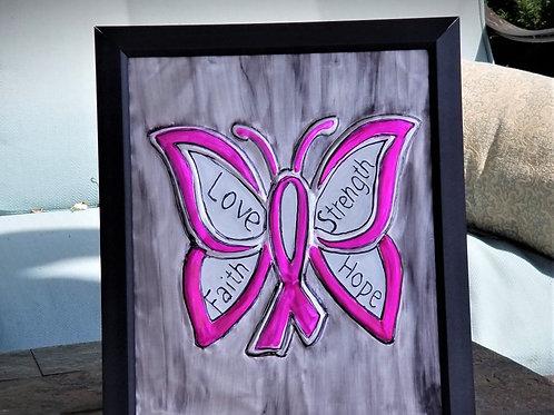 Embossed Metal - Breast Cancer Awareness