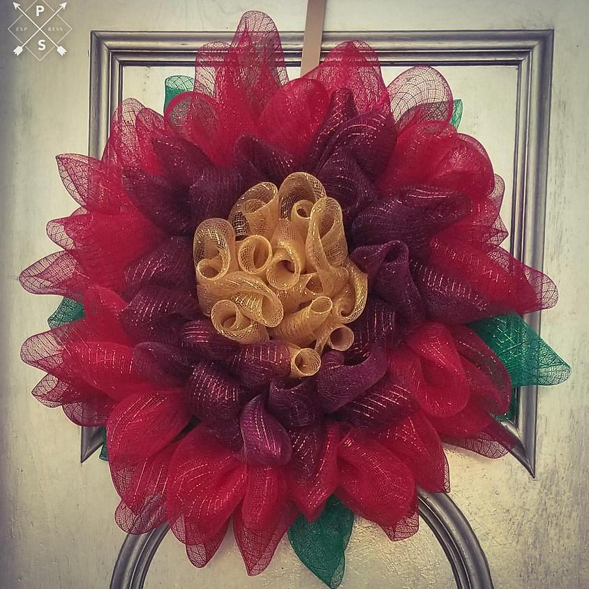 NEW - Poinsettia Wreath