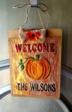Welcome Sign FA