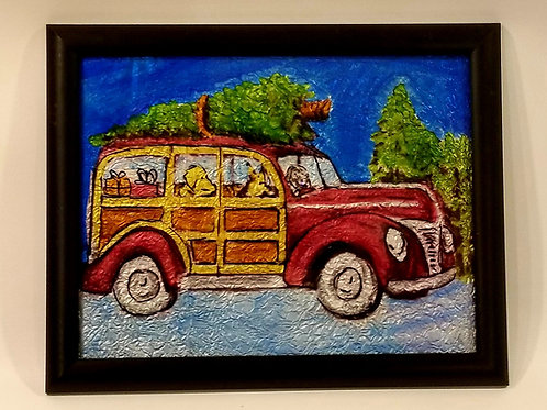 Alcohol Ink - Christmas Car