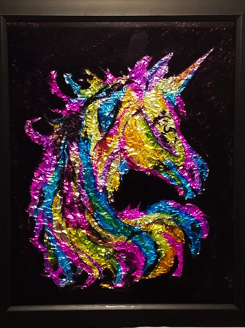 Alcohol Ink - Unicorn Silhouette