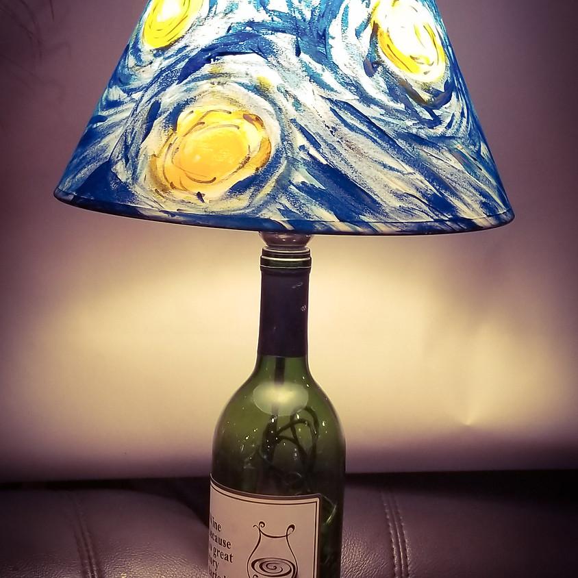 Starry Nights Wine Bottle Lamp