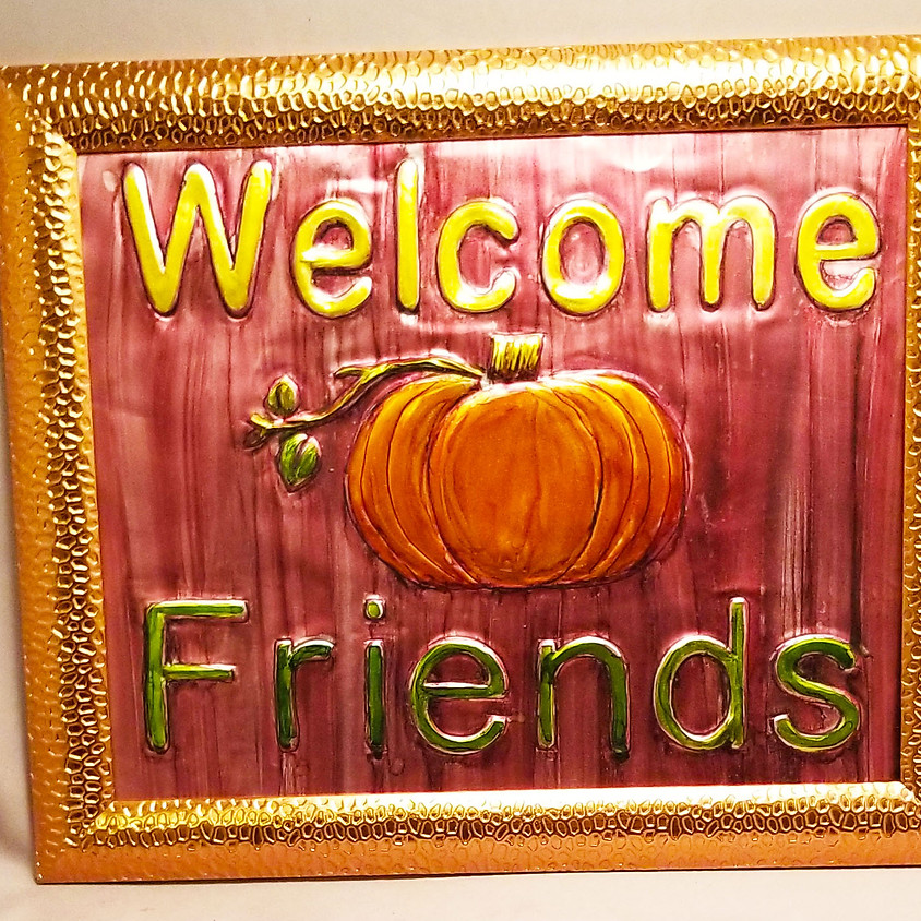Fall Welcome Sign - Metal Art