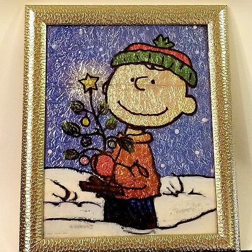 Alcohol Ink - Charlie Brown Christmas