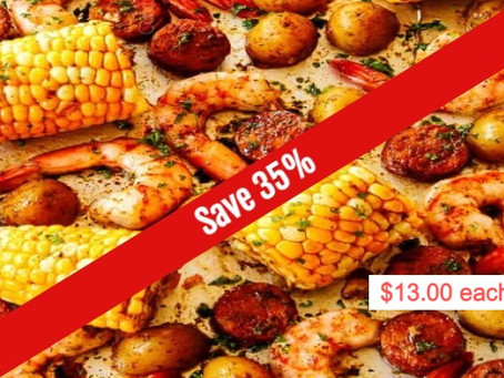 Summer Savings on our Low Country Shrimp Boil