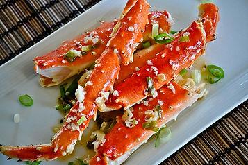 King Crab Legs in Garlic Lemon Butter