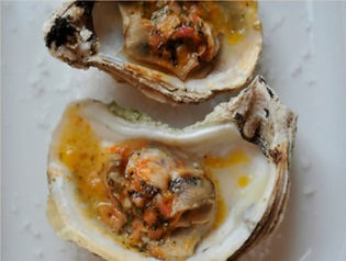 Blue Point Oysters Grilled or Broiled