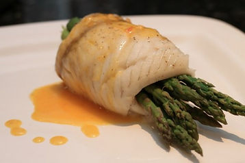 Sole Wrapped Asparagus