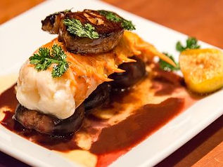 Lobster Tail with Figs and Foie Gras