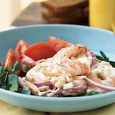 Shrimp White Bean Salad in a Creamy-Lemon Dill Dressing