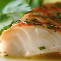 Alaskan Cod Seared with Green Gazpacho Sauce