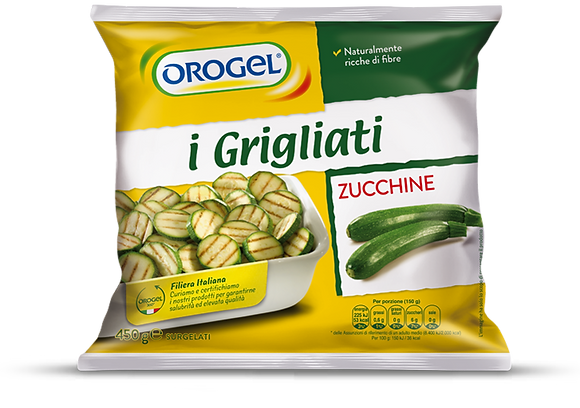 TRANCHES DE COURGETTE GRILLEES 1 KG OROGEL