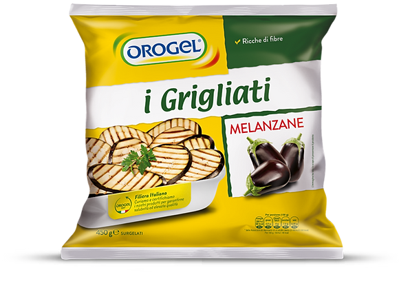 TRANCHES D'AUBERGINE GRILLEES 1 KG OROGEL
