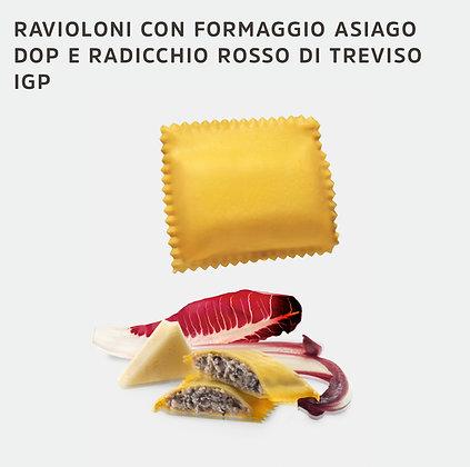 RAVIOLONI FROMAGE ASIAGO DOP  & CHICOREE ROUGE DE TREVISE IGP 2KG DIVINE CREAZIO