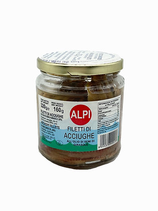 FILET D'ANCHOIS A L'HUILE DE TOURNESOL 320 GR BALISTRERI