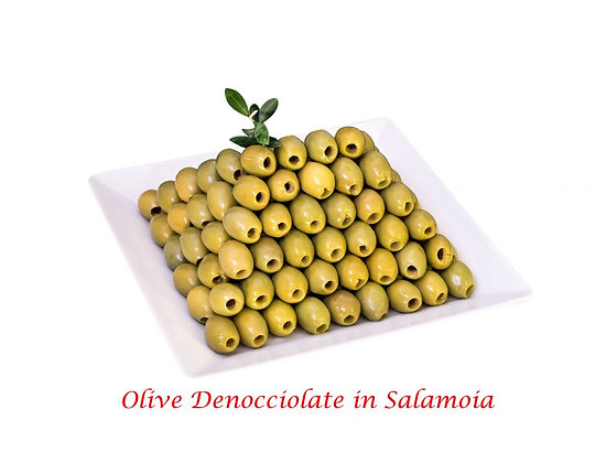 OLIVES VERTES DENOYAUTEES EN SAUMURE 314 ML BELLA CONTADINA