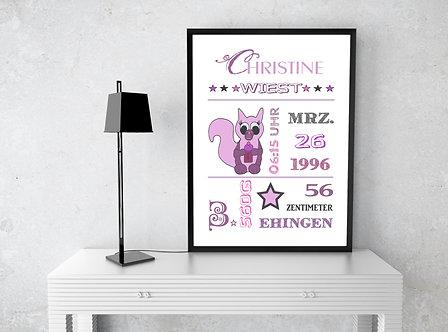 Geburtsdaten - DIN A4 Print