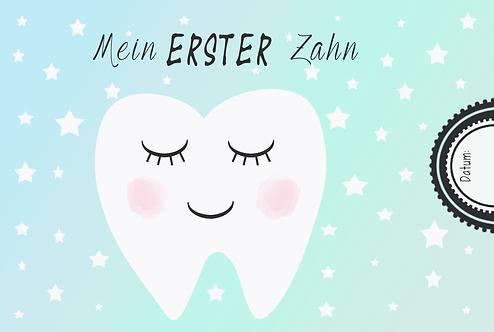 Mein erster Zahn - Meilensteinkarte -A6