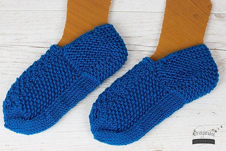 Handgestrickte Füßlinge / Strickschuhe