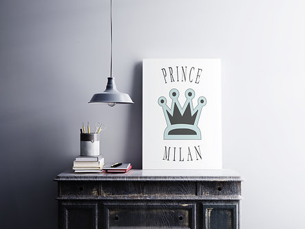 Prince + Wunschname - DIN A4 Print