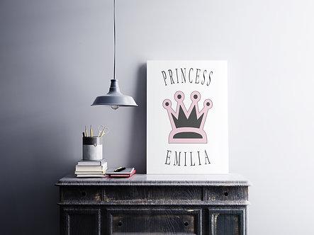 Princess + Wunschname - DIN A4 Print