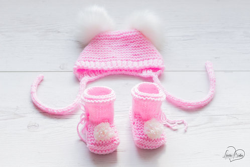 Sparset Babymütze mit Babyschuhe