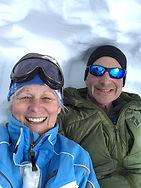 Pam and Dan snow cave June Mt.JPG