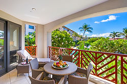 breakfast on the balcony at the wailea beach villas resort