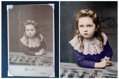 Photo restored with Adobe Photoshop