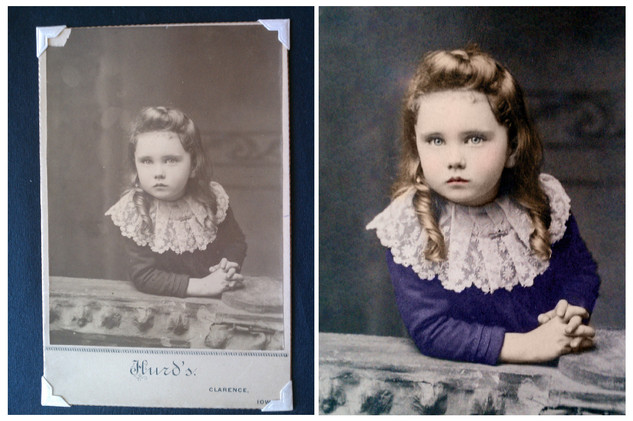 Photo restored with Adobe Photoshop