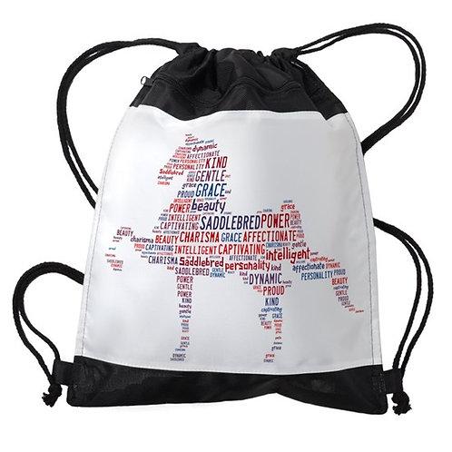 American Saddlebred Drawstring Bag