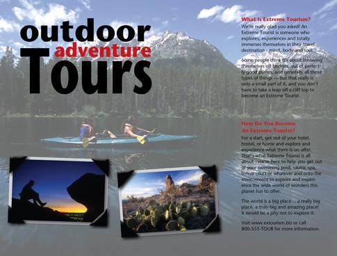 Brochure inside created with Adobe Illustrator