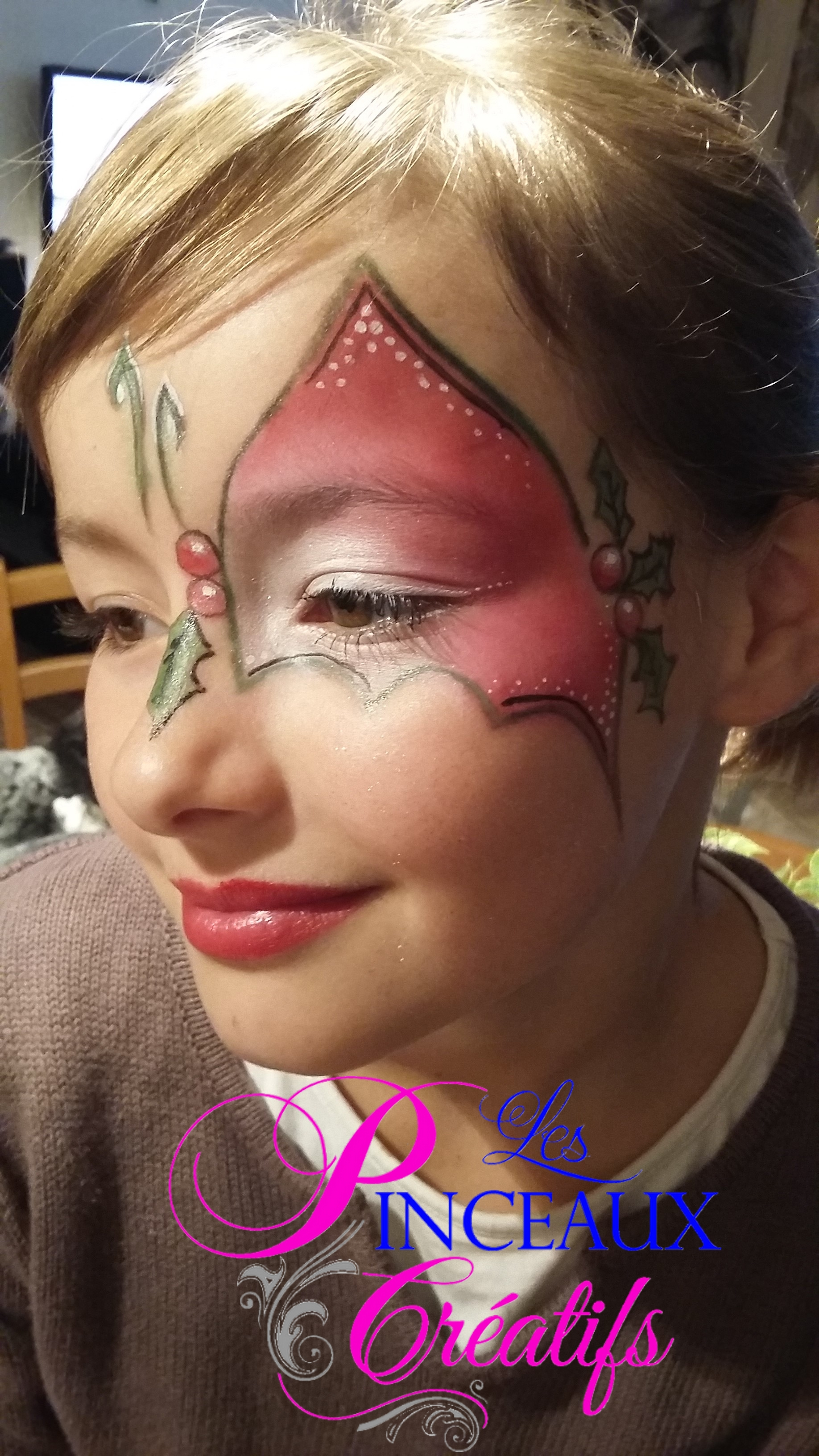 maquillage enfant noel