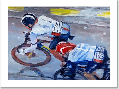 12x16 archival print Tour de France Cyclists...