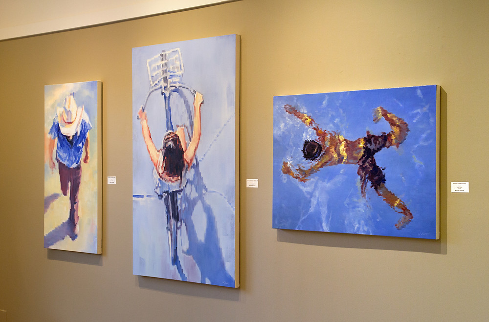 Large, Aerial View, Contemporary Impressionist Figurative Paintings by Warren Keating