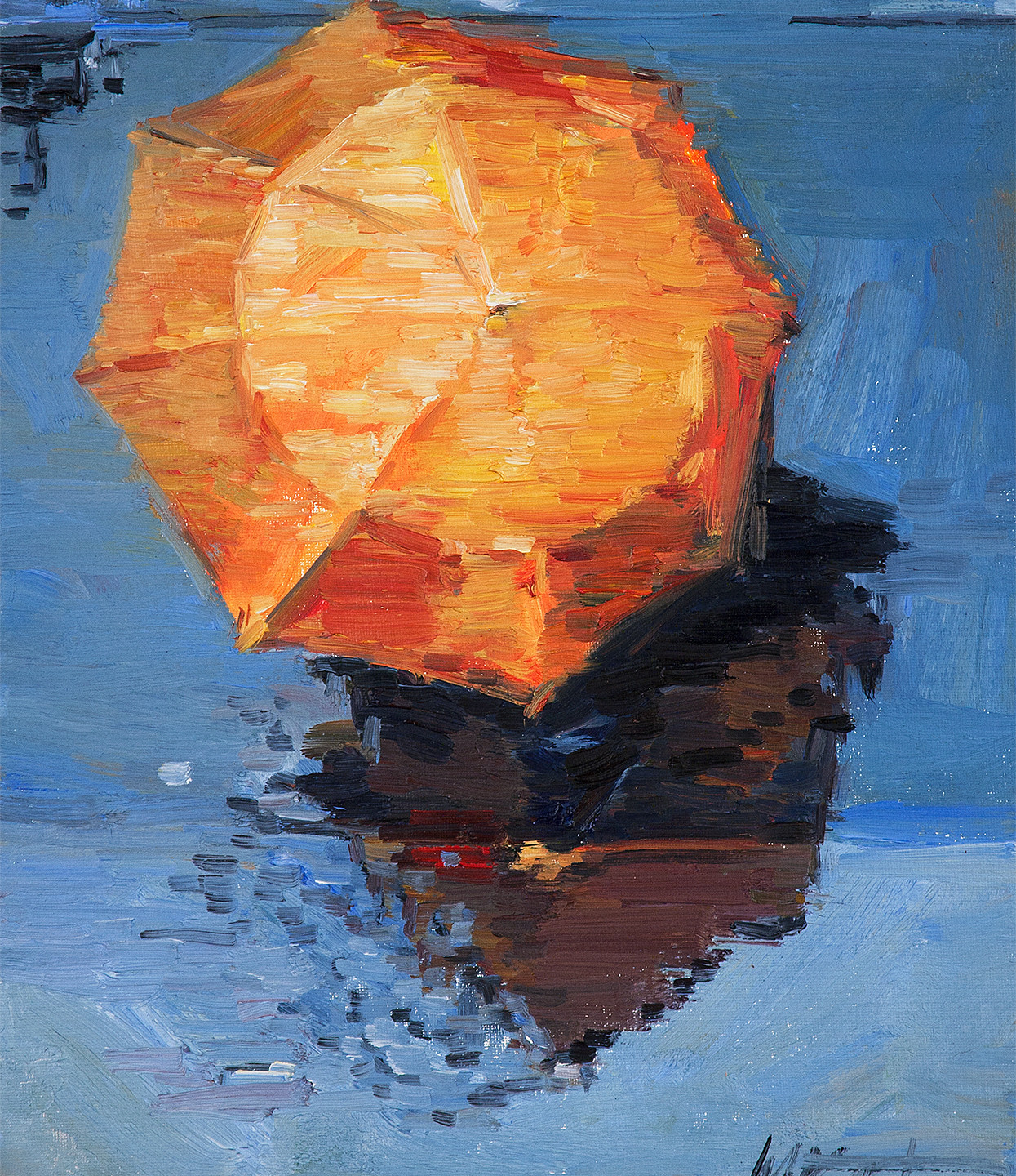 large archival print from contemporary figurative painting